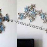 Как украсить пустую стену | Цветы из картона