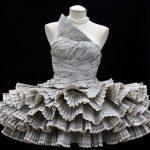 Платье из газет своими руками: поэтапный мастер-класс с фото