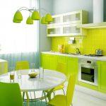 👍 Салатовый цвет в интерьере кухни