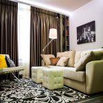 Дизайн гостиной и кухни размером 15 кв. метров — О Комнате