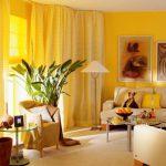 Обои желтого цвета — сделайте интерьер ярким!