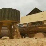 Дачная мебель из бревен