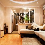 Дизайн гостиной при объединении с балконом
