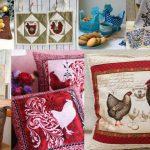 Вдохновение дня: самодельные петушки для декора интерьера к Новому году (8 фото коллажей)