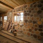Дом из дров по технологии Глиночурка