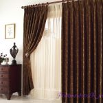 Портьерные шторы в интерьере кабинета, спальни, гостиной и кухни