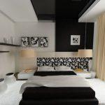 Красивая черно-белая спальня может быть оформлена в разных стилях — О Комнате
