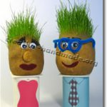 Голова с травой вместо волос (Grass Head)