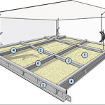 Виды и монтаж подвесного потолка Армстронг