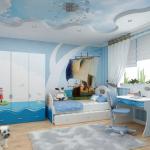 Особенности выбора натяжных потолков в детскую